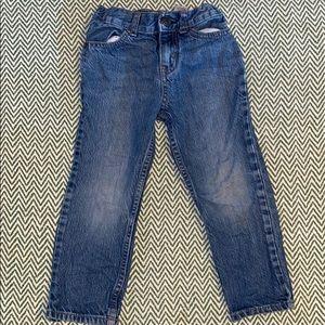 Boys light wash jean size 4